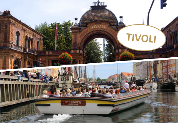Live guided canal tour and a visit to Tivoli