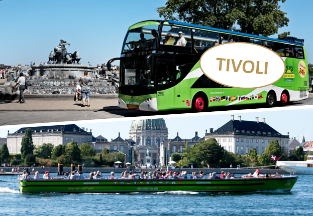 Bus & boart sightseeing combined with a visit to Tivoli