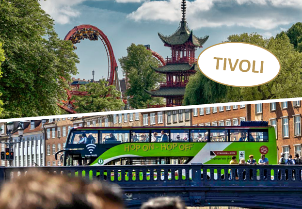 Hop On - Hop Off bus sightseeing and a visit to Tivoli