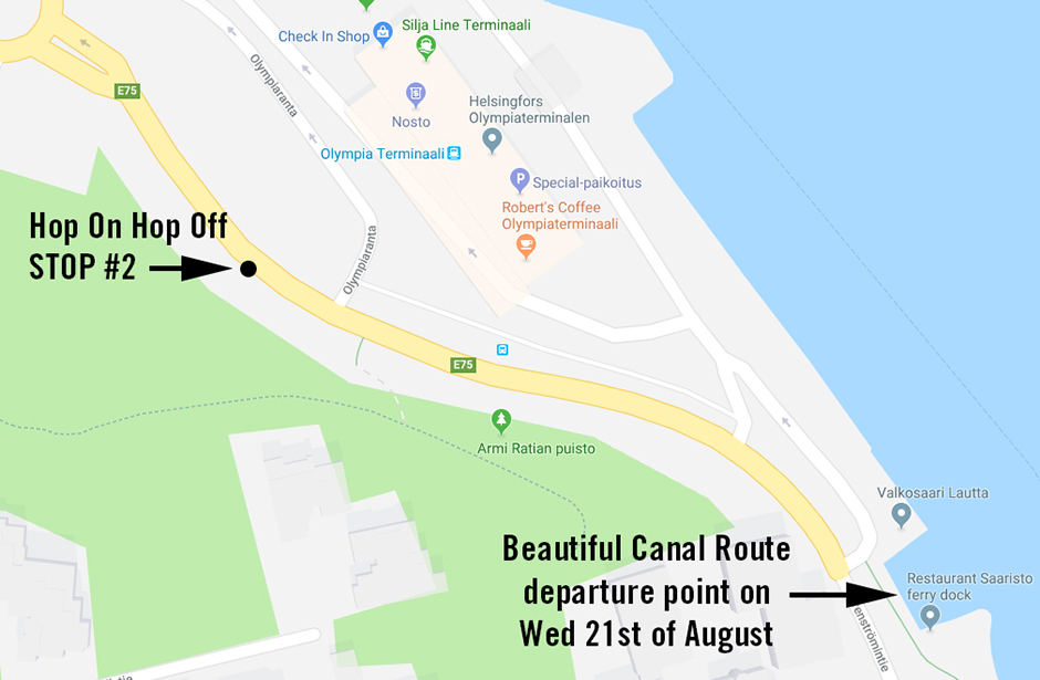 Traffic disruptions and temporary departure point for Canal Route on Aug 21, 2019