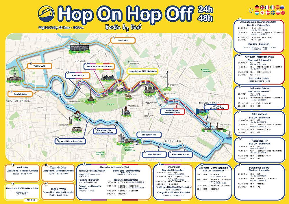 Sightseeing mit Berlins einzigen hop-on hop-off Booten