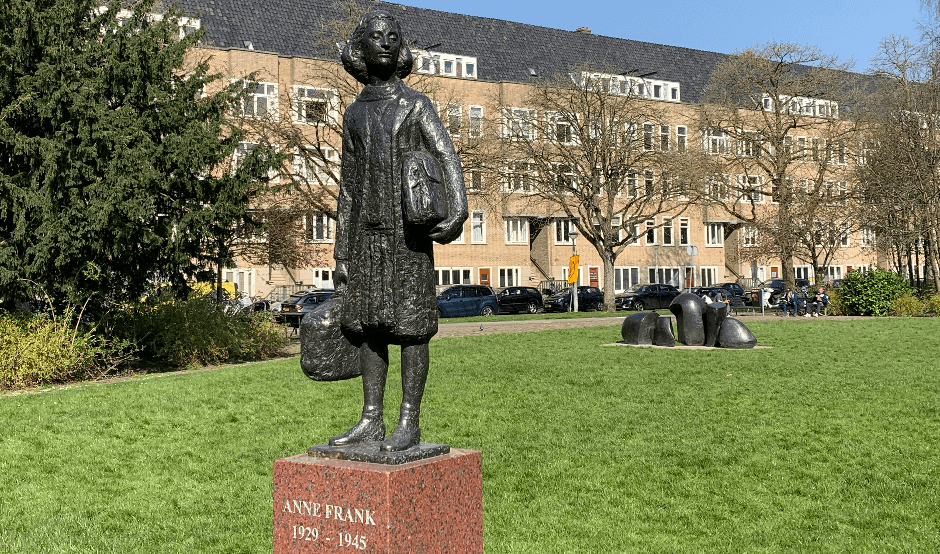 Activities in Amsterdam South - Anne Frank statue.png