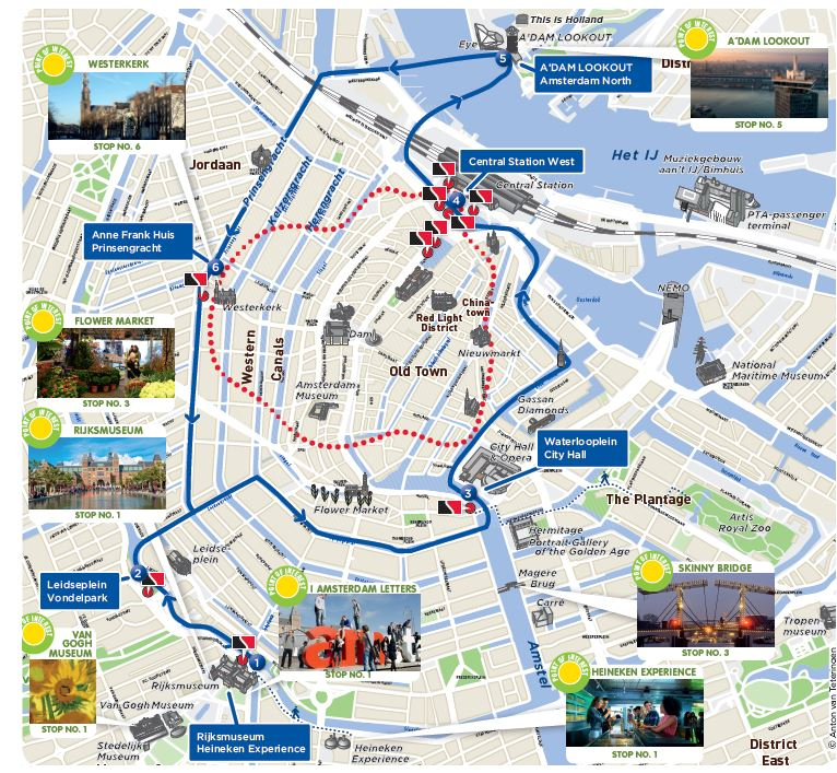Cartina Amsterdam.Amsterdam Hopon Hopoff Canal Boat 2018 Viatorcom Induced Info