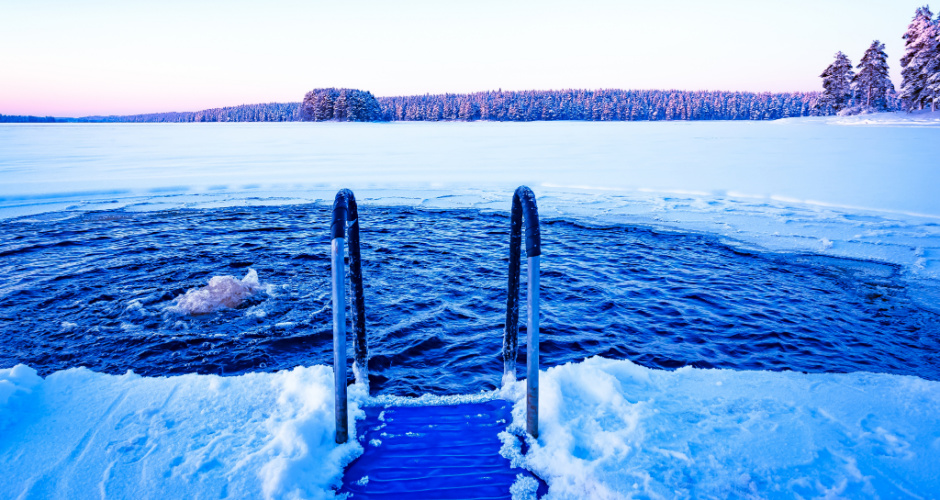 Winter swimming in Stockholm